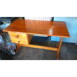 Pine desk + 2 drawers