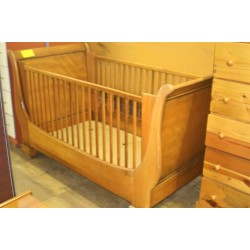 Solid Pine Sleigh Cot
