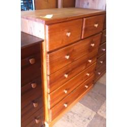 Pine 4+2 Drawer