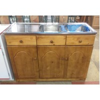 Pine Double Sink
