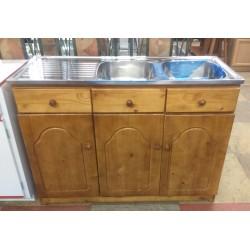 Pine Double Sink